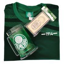 Kit Presente Palmeiras Camisa 1914 / Caneca / Chaveiro Oficial -