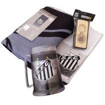 Kit Presente Santos 4x1 - Camisa / Caneca / Toalha / Chaveiro Oficial -