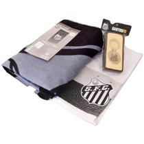 Kit Presente Santos - Camisa / Toalha / Chaveiro Oficial -