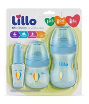 Kit primeiros passos azul 50ml 150ml 240ml sil - Lillo