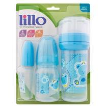 Kit Primeiros Passos Azul com 3 Peças - Lillo -