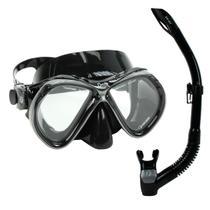 Kit Pro Onix Fun Dive, Máscara Respirador Mergulho Pesca Sub -