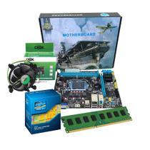 Kit Processador I3 2100 Placa Mãe H61 + 4gb Ddr3 - Pyx One