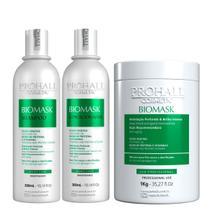 Kit Profissional Hidratante Biomask Prohall Máscara 1Kg -