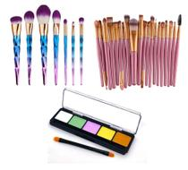 Kit Profissional Pinceis Maquiagem Paleta Belle Angel - Shoopweb