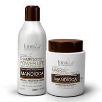 Kit Profissional Shampoo e Máscara de Mandioca Forever Liss -