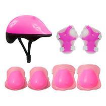Kit Proteção Completo Infantil Capacete Joelheira Segurança - Dm Toys