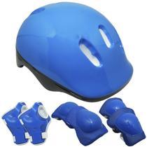 Kit Proteção Infantil Capacete Patins Skate Bicicleta Acessórios Menino Menina Importway Bw-106 -