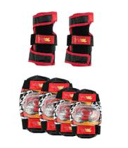 Kit Proteção Infantil Com Joelheira, Cotoveleira e Luva - Imp