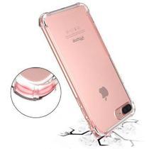 Kit Proteção Iphone 7 Plus/8 Plus Capa Anti Shock Transparente + Película de Vidro Temperado - Hrebos