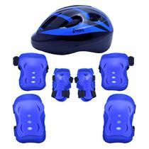 Kit Proteção Radical Com Capacete - Azul - P - Bel Sports