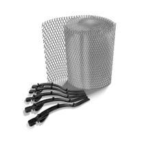 Kit Protetor de Calhas Anti-Folhas e Detritos Alumínio 0,17x6,0mt - Calhaforte
