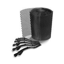 Kit Protetor de Calhas Anti-Folhas e Detritos PVC preto 0,17x6,0mt - Calhaforte