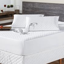 Kit Protetor De Colchão Impermeável Casal C/ Porta Travesseiro - 03 Peças - Anjos Enxovais