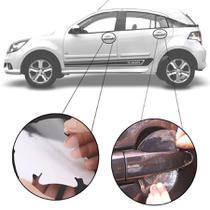 Kit Protetor de Maçaneta Película Adesivo Incolor Original Chevrolet Agile 2009 10 11 12 13 14 15 4 Peças Protege contra Riscos de Unhas - Np Adesivos