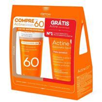 Kit Protetor Solar Actine Com Cor Universal  FPS60 E Ganhe Sabonete Líquido Actine 60g - DARROW