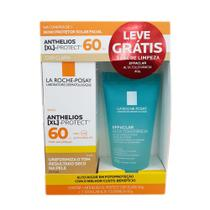 Kit Protetor Solar Facial Anthelios XL-Protect Cor Clara FPS 60 40g e Ganhe Gel Effaclar Alta Tolerância 40g -