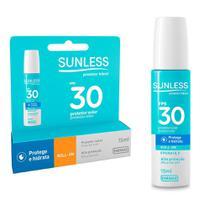 Kit Protetor Solar FPS30 02 unidades e Labial FPS30 Sunless - Farmax