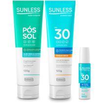 Kit Protetor Solar FPS30, Labial e Pos Sol Sunless - Farmax