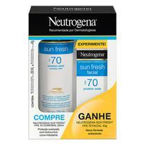 Kit Protetor Solar Neutrogena Sun Fresh FPS 70 200ml Ganhe Protetor Solar Facial FPS 70 40g -