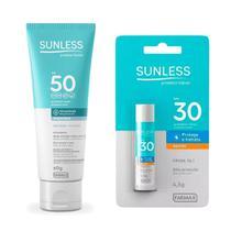 Kit Protetor Solar Sunless FPS50 + Protetor Labial Bastão -