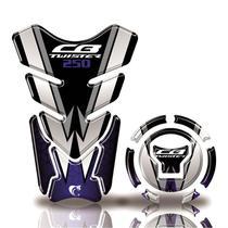 Kit Protetor tanque adesivo moto Honda acima 2018 CB Twister 250 Azul - Cobra Motoparts