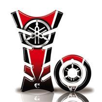 Kit Protetor Tanque Adesivo Moto Yamaha Factor 125/150 Até Ano 2016  Vermelho - Cobra Motoparts