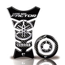 Kit Protetor Tanque Adesivo Moto Yamaha Factor 125 Até Ano 2016  Carbono - Cobra Motoparts
