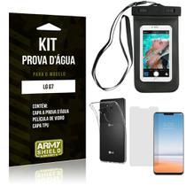 Kit Prova D'água LG  G7 Capa a Prova D'água + Capa + Película de Vidro - Armyshield -