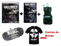 Kit PS3 Call of Duty Ghosts:  Jogo PS3 + Pulseira + Poster + Squeeze + Camiseta Brinde - Activision