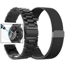 Kit Pulseira Para Gear S3 Frontier S3 Classic Milanese Loop Valkit com Pelicula Galaxy Watch - X-doria