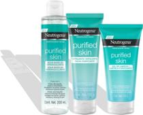Kit Purified Skin Neutrogena Água Micelar + Gel de Limpeza + Esfoliante - Johnson & Johnson