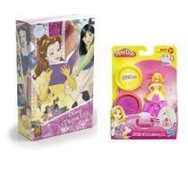 Kit Puzzle Princesas Disney + Play-Doh Estampa Princesa Rapunzel - Grow/hasbro