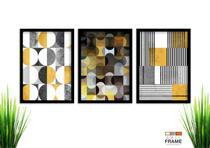 Kit Quadro Decorativo Moderno 3 peças de 40x60 com Moldura - Loja Wall Frame