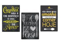 Kit Quadro Placas Decorativas - Cozinha Cheia de Amor - Maison De Lele