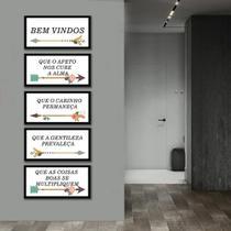 Kit Quadros Decorativos Flechas e Frases - Arte Quadro