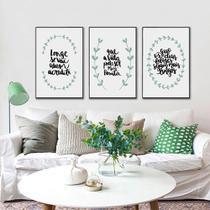 Kit Quadros Decorativos Frases Motivacionais - Arte Quadro