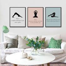Kit Quadros Decorativos Frases Pilates - Arte Quadro