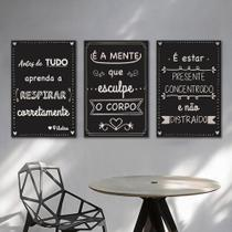 Kit Quadros Decorativos Pilates - Arte Quadro