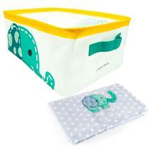 Kit Quartinho Manta para Bebê e Cesto Organizador Elefante - Babypill