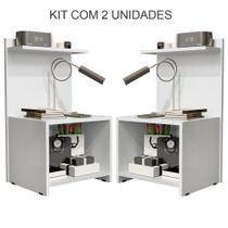 Kit Quarto Com 2 Mesas de Cabeceira Fantasy Branco - Lojas GD -