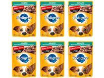 Kit Ração Úmida para Cachorro Adulto Sachê - Pedigree Carne ao Molho 6 Unidades 100g Cada