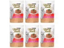 Kit Ração Úmida para Gato Adulto Sachê Fancy Feast - Goulash Atum 6 Unidades 85g Cada