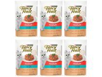 Kit Ração Úmida para Gato Adulto Sachê Fancy Feast - Goulash Peru 6 Unidades 85g Cada