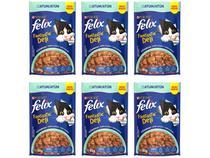 Kit Ração Úmida para Gato Adulto Sachê Felix - Fantastic Deli Atum 6 Unidades 85g Cada