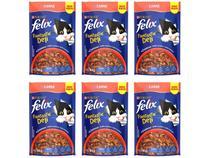 Kit Ração Úmida para Gato Adulto Sachê Felix - Fantastic Deli Carne 6 Unidades 85g Cada
