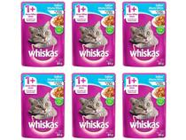 Kit Ração Úmida para Gato Adulto Sachê - Whiskas Atum ao Molho 6 Unidades 85g Cada