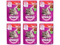 Kit Ração Úmida para Gato Adulto Sachê - Whiskas Carne ao Molho 6 Unidades 85g Cada