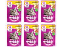 Kit Ração Úmida para Gato Adulto Sachê - Whiskas Frango ao Molho 6 Unidades 85g Cada