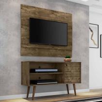 kit rack painel para tv 42 pol marrom rústico pé palito - Bechara